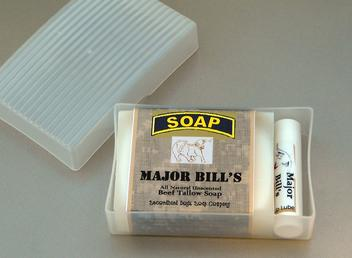 Major Bill's Military Soap Beef Tallow Lip Balm